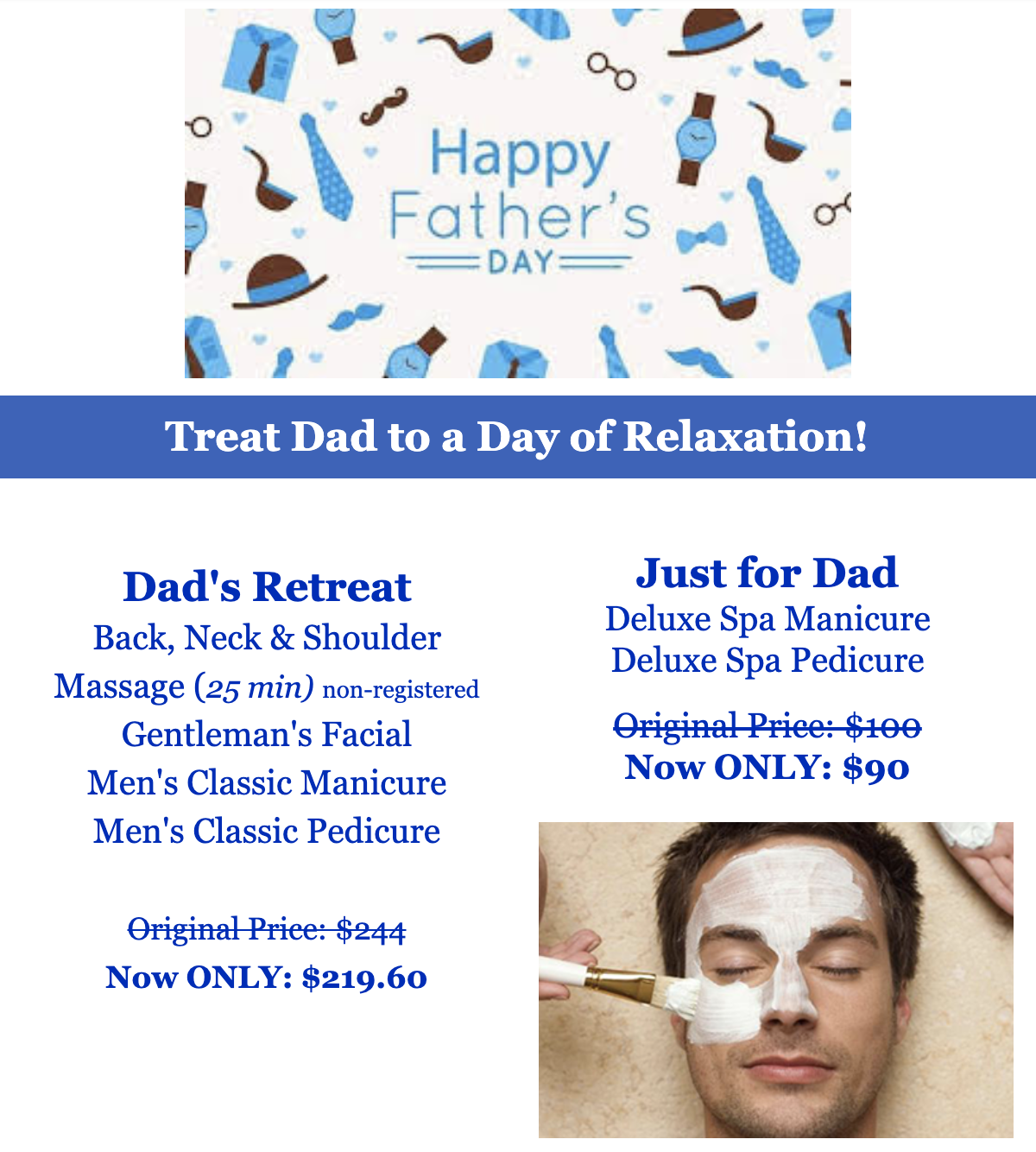 Father's Day Spa Treatments Mississauga